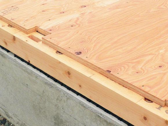 ねじれに強い剛床床組構造