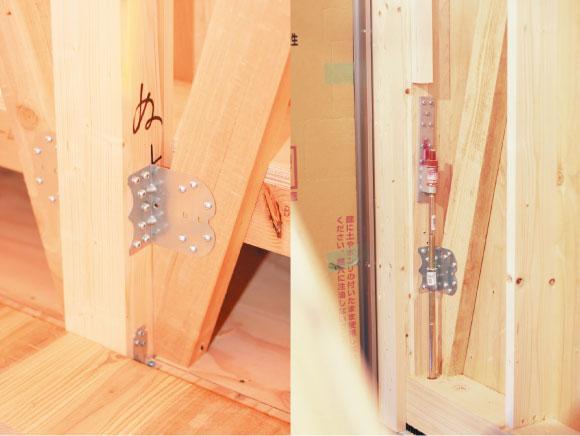 家を強固にする耐震金具